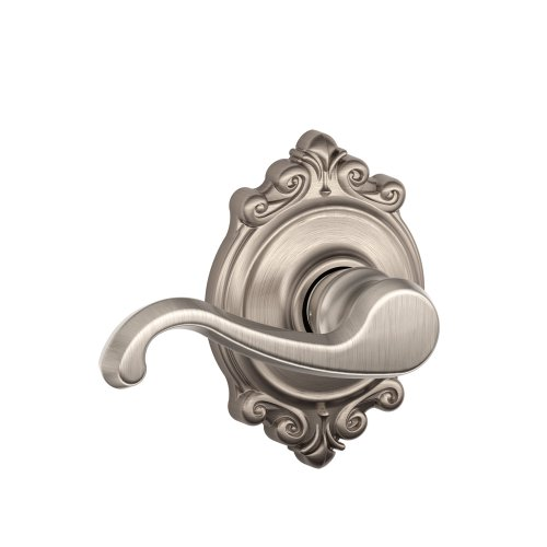 Schlage F10-ACC-605-CAM Bright Brass Passage Accent Style Lever Camelot Rose