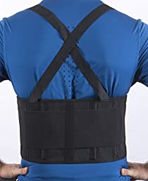 Back Brace Lumbar Support Belt Adjustable Straps Pain Relief For Women Men Neoprene Strap For Lower Waist Therapy Portable Pain Massager by MakExpress (Medium)