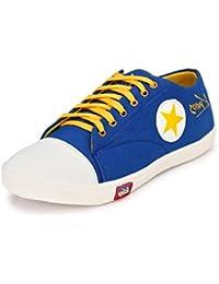 Knoos Men's Canvas Blue Sneakers (CR-01-BLU)