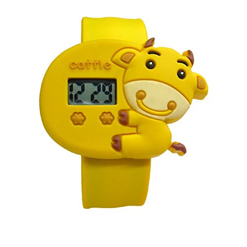 Cute Cartoon Kids Waterproof Watch (Cow)