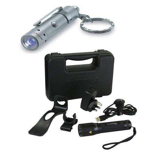 LED Lenser M7R Gift Box supplied with LED Lenser V8 Photon Pump LED Torch