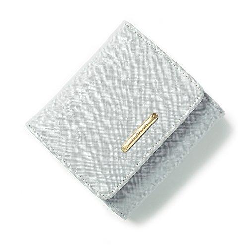Il nuovo presidente della Korean corto elegante portafogli 10 nel campo 3 anno termine fold wallet femmina 0 clip di denaro wallet , grigio
