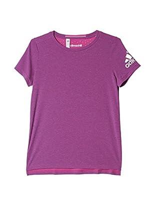 adidas Camiseta Manga Corta Climachill (Morado)