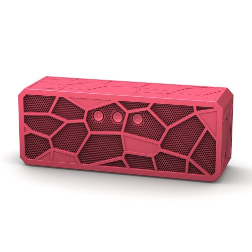 Indierocker Bluetooth Speakers Super Bass Portable Speaker Rechargeable Speaker Hands Free Voice Calling Pink