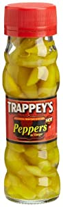 Trappey's Hot Peppers in Vinegar, 4.5-Ounce Glass Bottles (Pack of 12)