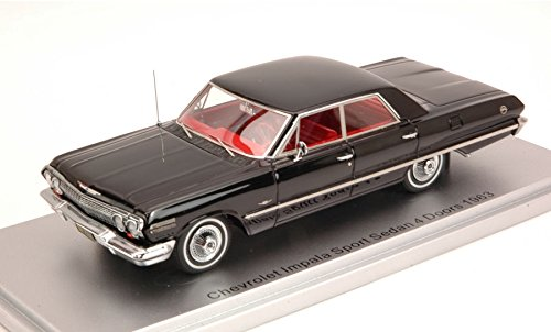 chevrolet-impala-sport-sedan-4-doors-1963-black-edlimpcs-250-143-kess-model-auto-stradali-modello-mo