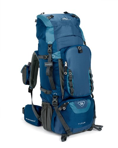 High Sierra Titan 55 Frame Pack Pacific/Altitude front-342312