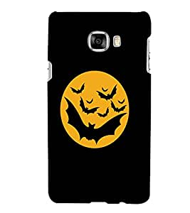 Printvisa Haunted Bats And Moon Pic Back Case Cover for Samsung Galaxy C7