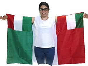 Buy World Cup 2014 Italian FlagMade to Wear 3ft×5ft, Unisex. Vibrant Colors. Special... by Tuberband