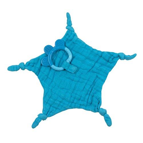 iplay Dream Window Organic Blankie Teether (Aqua-3mo+)