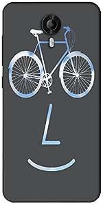 Snoogg Public Bike Poster 2923 Designer Protective Back Case Cover For Micromax Canvas Nitro 3 E455