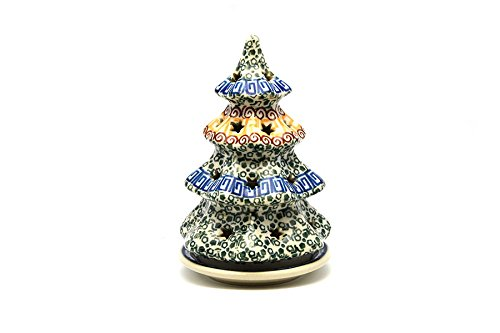 Polish Pottery Christmas Tree with Plate - Small - Autumn Polish Pottery Christmas Tree