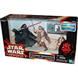 Star Wars Episode I Tatooine Showdown Set with Darth Maul, Qui-Gon Jinn and Anakin Skywalker figures. Base and Commtech Chip IN NOT MINT PACKAGE