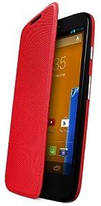 Motorola Flip Shell Hülle Case Cover für Moto G Smartphone - Rot