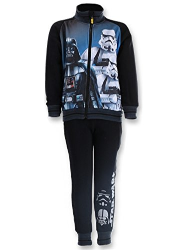 Ufficiale Star Wars stampa foderato in pile pantaloni tuta età 3A 8anni Black 12 anni