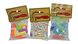 3 Pack Assortment of Candy Necklace, Candy Lipstick, and Wax Nik L Nip Bottles