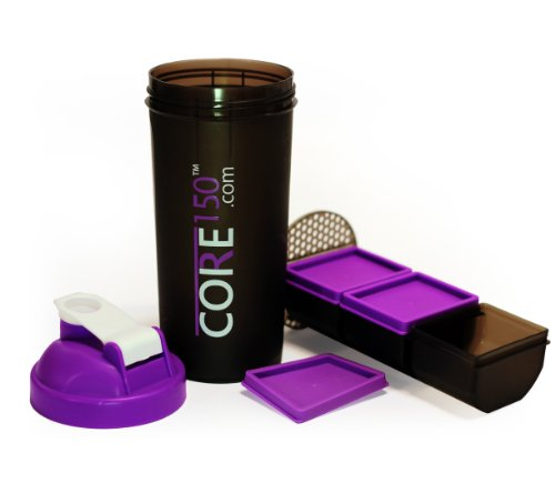 Core150 Purple 1 Litre 35oz Shaker Cup with 3