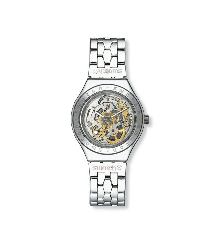 Swatch Mens Body and Soul Metal Skeleton Dial Bracelet Watch