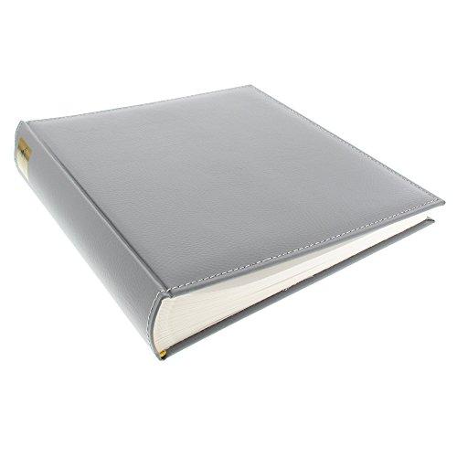 Fotoalbum Cezanne 30x31 cm 100 weiße Seiten mit Pergamin Kunstleder Stein 31809