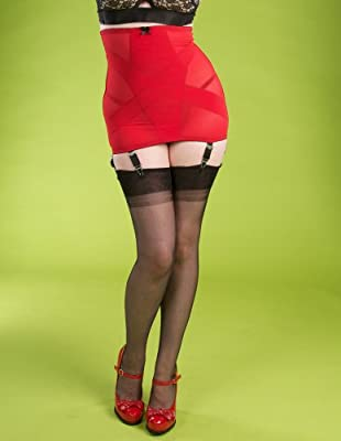 Stockings and Romance Red Illusion Girdle