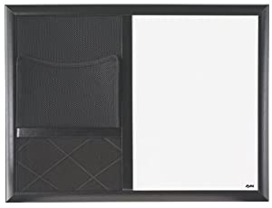 Combo Dry Erase Board with Black Wood Composite Frame, 18 Inches by 24 Inches