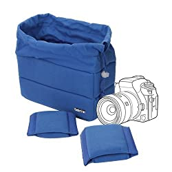 Koolertron NEW Shockproof DSLR SLR Camera Bag Partition Padded Camera Insert, Make Your Own Camera Bag(Blue)