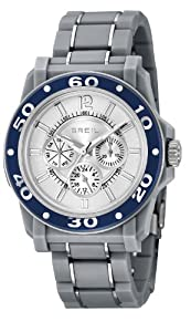 Breil Men's Quartz Watch with Silver Dial Chronograph Display and Silver Stainless Steel Bracelet TW0991