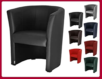 fauteuil cabriolet simili cuir noir. Black Bedroom Furniture Sets. Home Design Ideas
