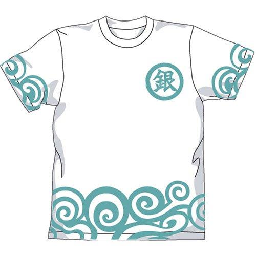 銀魂 銀時着物柄Tシャツ ホワイト サイズ:L