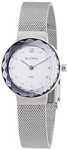 Skagen Women's 456SSS Leonora Quartz 2 Hand Stainless Steel Silver Watch
