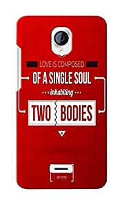 CimaCase Two Bodies Designer 3D Printed Case Cover For Micromax Unite 2 A106