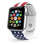Apple Watch Band,Voberry® Soft Silicone Sport Style Replacement iWatch Band for Apple Wrist Watch for Women Girls (42mm, US Pattern )