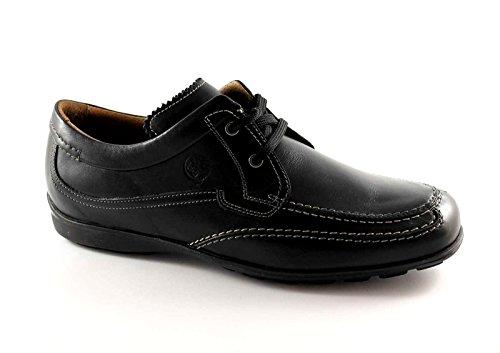 LION 7966 nero scarpe uomo antistatiche pelle mocassini lacci 41