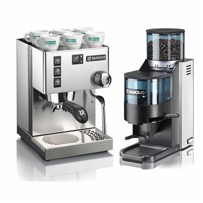 Rancilio Silvia and Rocky Bar Combo - Doser