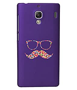 KolorEdge Back Cover For Xiaomi Redmi 1S - Purple (1993-Ke15102Redmi1SPurple3D)