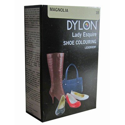 1 x Dylon 20ml Sachet Lady Esquire Leather & Synthetic Magnolia Shoe Boot Colouring