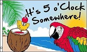 3'x5' Margaritaville Jimmy Buffett Parrot FLAG
