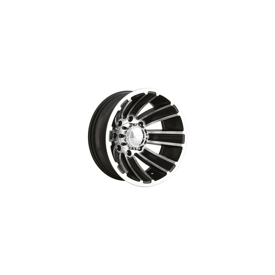 Alloy Ion Style 166 16x6 Black Wheel / Rim 8x6.5 with a  125mm Offset and a 130.18 Hub Bore. Partnumber 166 6681RB