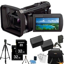 Sony HDR-PJ650V HDR-PJ650 PJ650 HDRPJ650V High Definition Handycam Camcorder with 3.0-Inch LCD (Black) ULTIMATE Bundle with 32GB SD Card (Qty 2), Spare Battery (Qty 2), Rapid AC/DC Charger, Full Sized Tripod, Deluxe Case + MORE