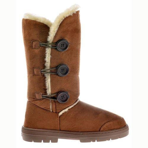 Ella Women's Triple 3 Button Suede Winter Boot