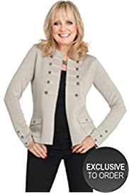 Twiggy for M&S Woman Military Cardigan with Wool