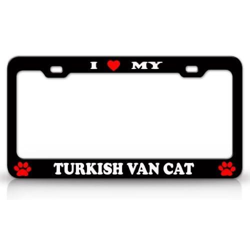 I LOVE MY TURKISH VAN Cat Pet Animal High Quality STEEL