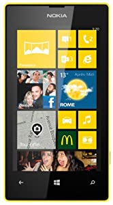 Nokia LUMIA520J Smartphone débloqué Windows Phone Bluetooth Jaune