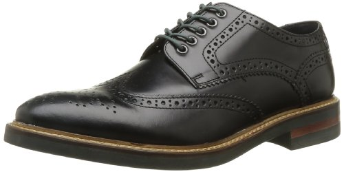 Base London  Woburn,  Scarpe stringate uomo, Nero (012 Hi Shine Black), 43