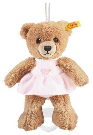 Steiff Sleep Well Bear Music Box, Pink front-898992