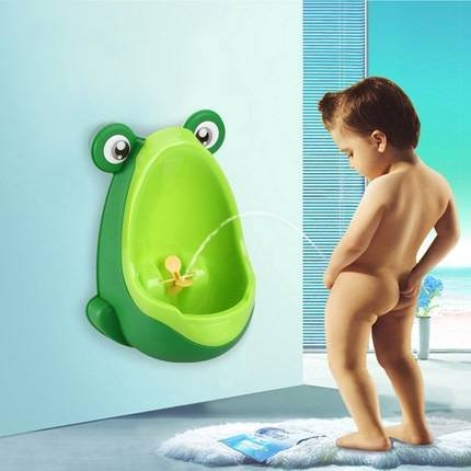 Lovely Frog Children Kids Potty Removable Toilet Training Kids Urinal Early Learning Boys Pee Trainer Bathroom (Blue)