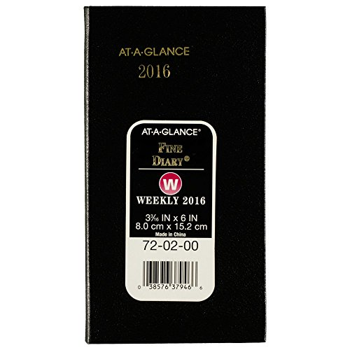 AT-A-GLANCE Weekly / Monthly Pocket Diary 2016, 12 Months, 3.19 x 6 Inch Page Size, Compact (720200)