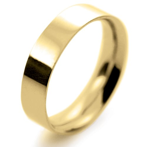 18ct Yellow Gold Wedding Ring Flat Court Medium - 5mm
