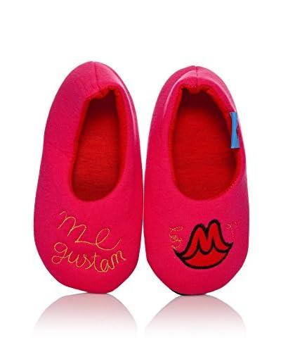 Dolca Pantofola Da Casa Kisses [Fucsia]