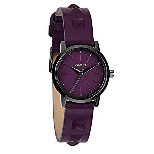 Nixon Women's Kenzi Leather Bordeaux Stud Watch